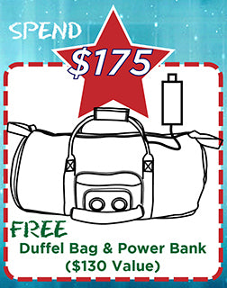 FREE Duffel & Power Bank-JammyPack