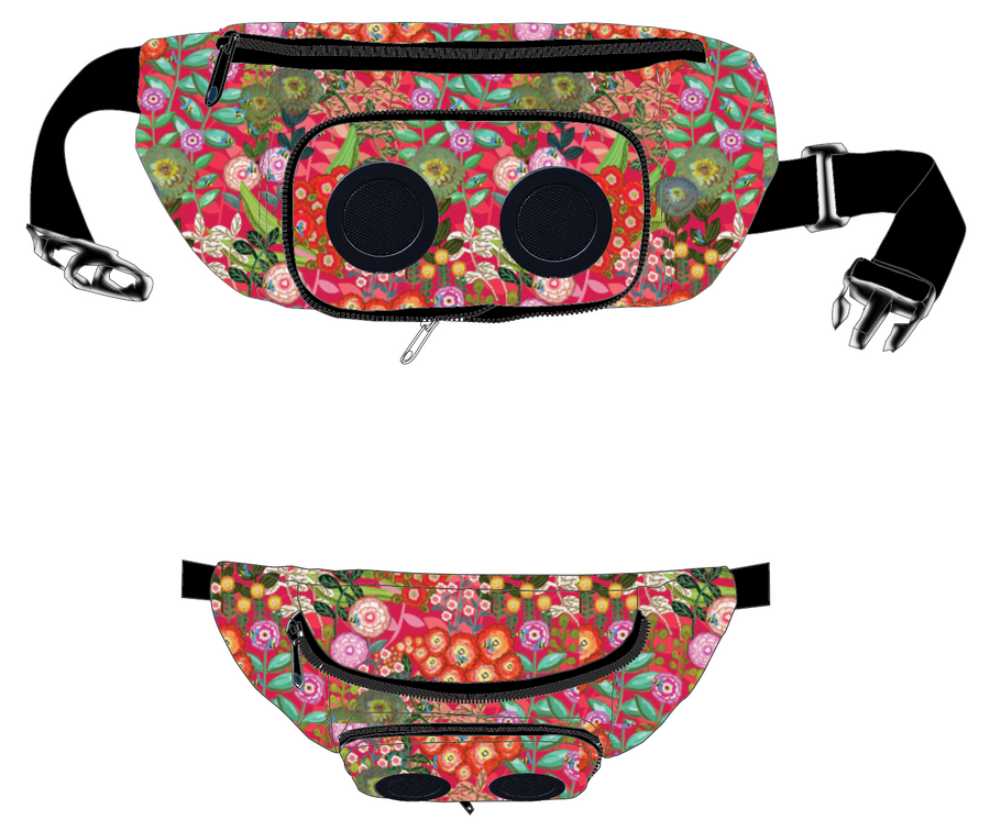 Flowa' Powa'  Bluetooth Fanny Pack