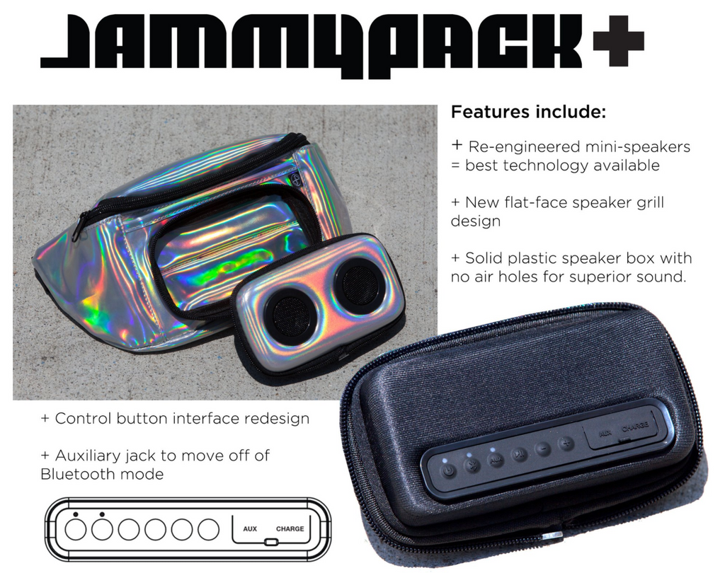 Silver Hologram Bluetooth Fanny Pack-Fanny Pack-JammyPack