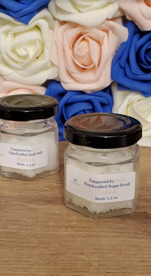 Salt and sugar scrub duo in NAKED scent