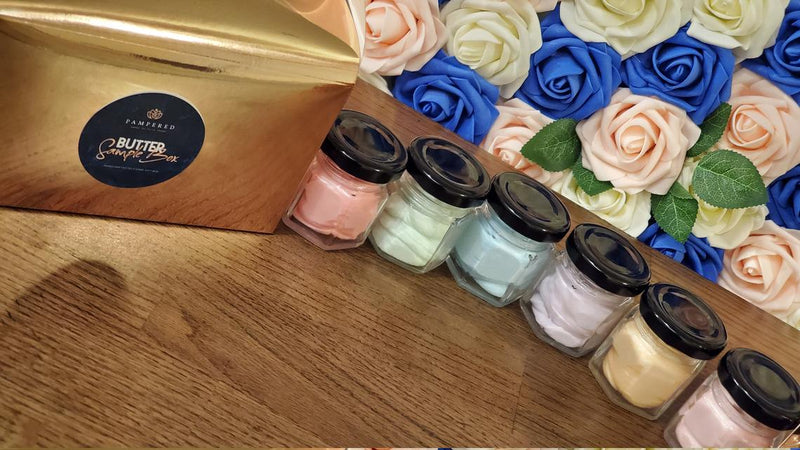 Pampered luxury in a mini jar, experience all 6 signature whipped body butters with this value set.
