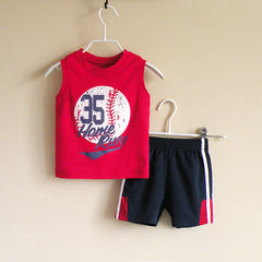 Baby Boy/Boy athletic wear set - Red
