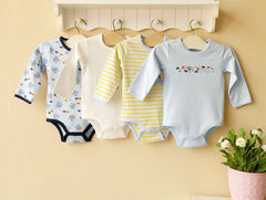 4-pack long sleeves bodysuits gift set