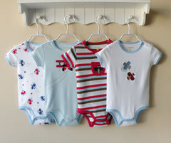 4-pack bodysuits gift set - Airplane