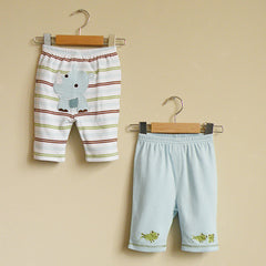 Rhino and Frog Capri Pants