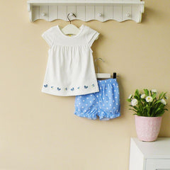 2-piece tee & shorts set - Blue butterfly