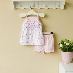 2-piece top & shorts set - Pink flower