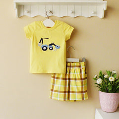 2-piece T-shirt and pants set - yellow