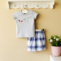 2-piece T-shirt and pants set - grey