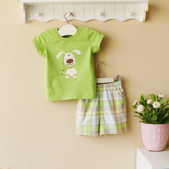 2-piece T-shirt and pants set - green