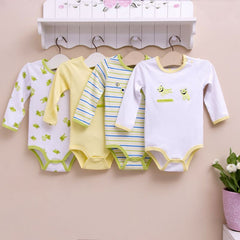 4-pack long-sleeves bodysuits gift set - Frog