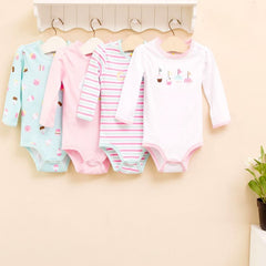 4-pack long-sleeves bodysuits gift set - Cupcake