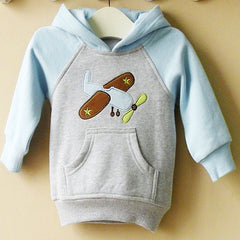 Boy's Hoodie with front pocket - Airplane