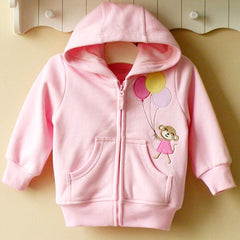 Baby girl/Girl's Hoodie with zipper - Monkey