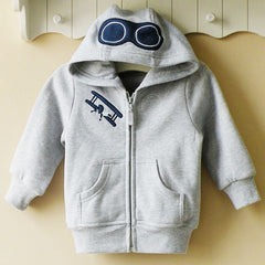 Baby boy/Boy's Hoodie with zipper - Airplane pilot