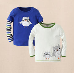 2pk long sleeves tee - Owl