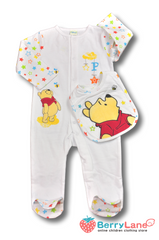 Winnie the pooh one-piece with bib