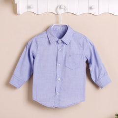 Boys Long-sleeves Shirt - Blue