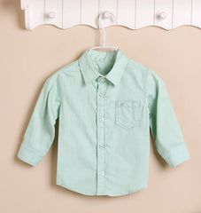 Boys Long-sleeves Shirt - Green