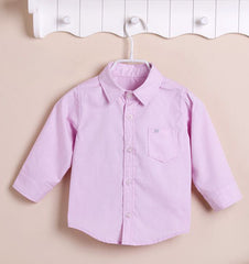 Boys Long-sleeves Shirt - Pink