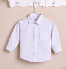 Boys Long-sleeves Shirt - White