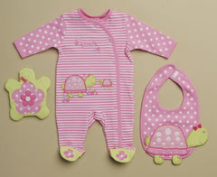 Turtle and flower 3-piece set