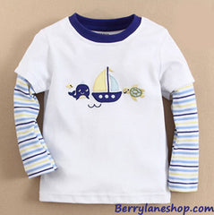 Boy long-sleeves tee - Sailboat