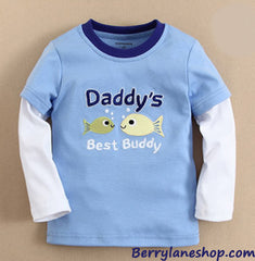 Boy long-sleeves tee - Daddy's best buddy