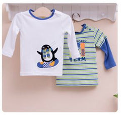 2-pack Baby Long-sleeves Tee - Penguin