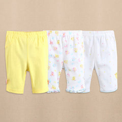 3-pack baby girl capri pants - Butterfly