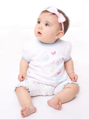 Baby girl butterfly short sleeve tee