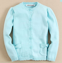 baby girl Knit cardigan in blue