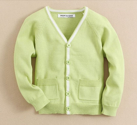 Knit cardigan in lime