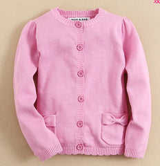baby girl Knit cardigan in hot pink