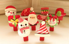 Handmade children Christmas hair clips