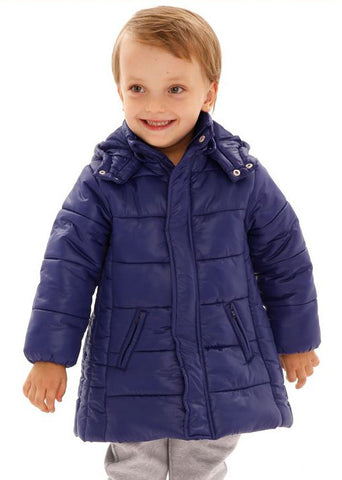 Children quilted puffer jacket - Deep blue