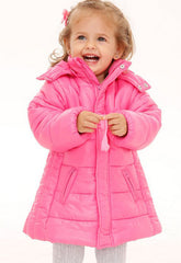 Children quilted puffer jacket - Hot pink