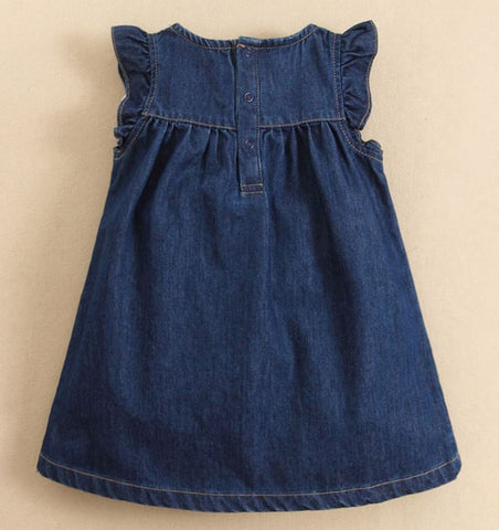 Sweet strawberry denim dress