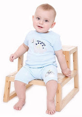 baby boy dinosaur short-sleeve tee in blue