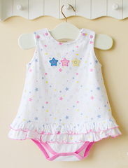 Baby girl dress romper - Star
