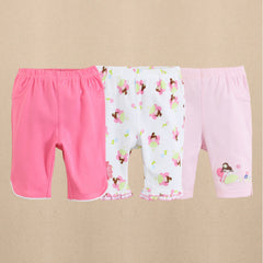 3-pack baby girl capri pants - Fairy