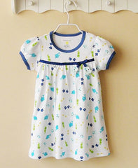 Blue fish dress with bow