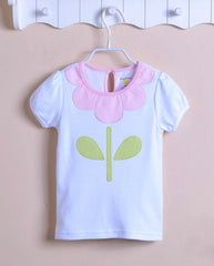Short-sleeve flower tee