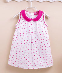 Sleeveless Girl's heart print dress