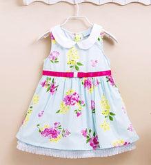 Sleeveless Girl's flower dress