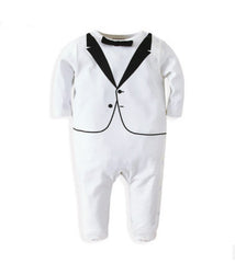 Infant romper with bow