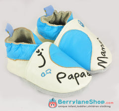 Baby boy soft sole leather shoes - Love