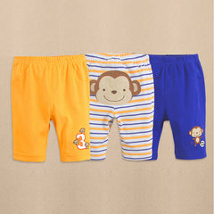 3-pack baby boy capri pants - Monkey