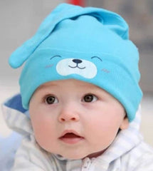 Infant cotton knot hat - Blue