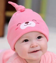Infant cotton knot hat - Pink